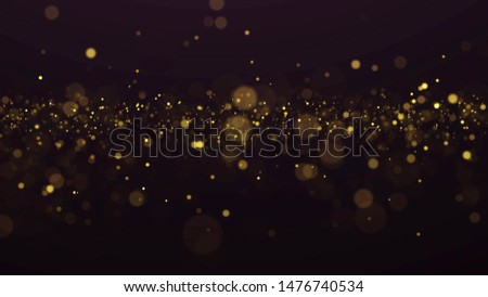 Abstract Dust Particles Background. Bokeh Particles Background