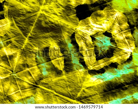 Abstract dynamic wallpaper. Dynamic artistic splashes. Tunisian pattern. Vibrant paper texture. Swirl on color background. Gold image. Tie dye. Dirty art. Modern design.