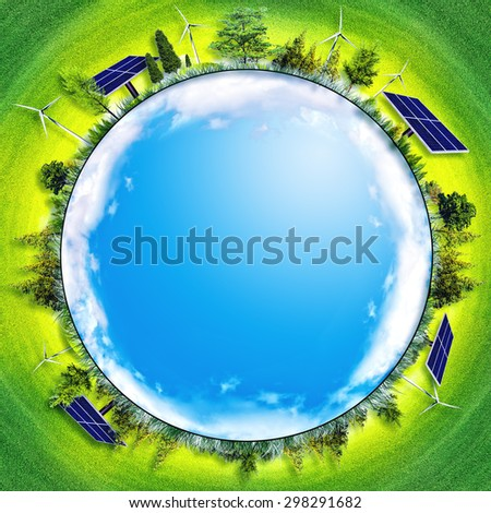 abstract eco backgrounds. alternative energy and power concept