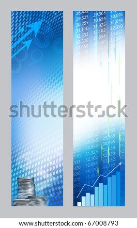 Abstract economic banners