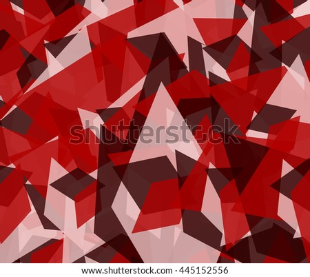 Abstract edgy, angular background. Scattered edgy overlapping shapes, monochrome texture, pattern stock photo