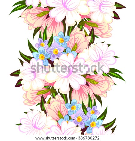 Abstract elegance seamless pattern with floral background #386780272