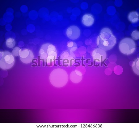 Abstract elegant purple and blue background with bokeh lights