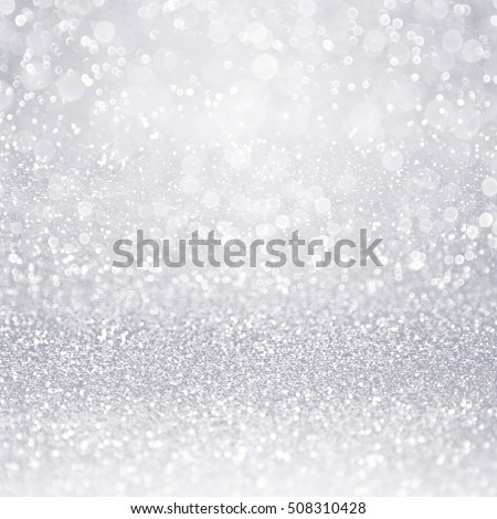 Abstract elegant shiny silver white glitter sparkle background or confetti party invite for bridal wedding, happy birthday, frozen winter ice snow flake, Christmas, gray metal texture or anniversary
