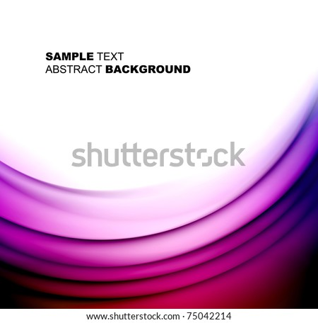 Abstract elegant wave template