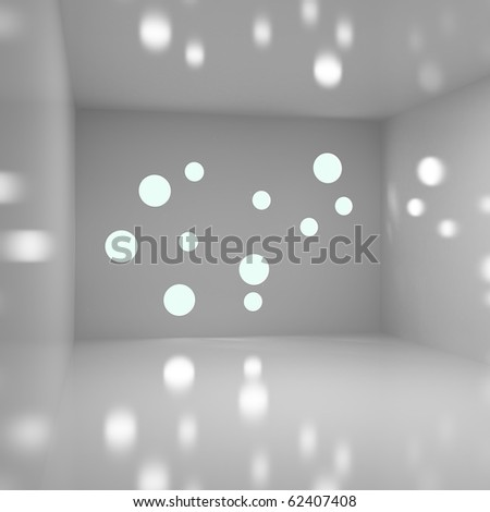Abstract Empty Interior - 3d illustration