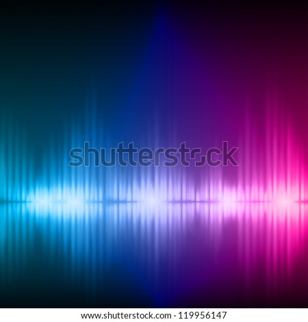 Abstract equalizer background. Blue-Purple wave. Raster version of the loaded vector.