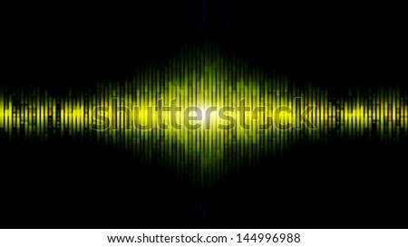 Abstract equalizer background yellow and green