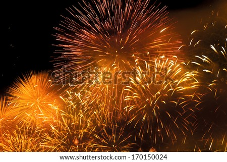 Abstract - explosion of fireworks - New Year celebration Foto stock ©