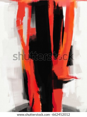 abstract expressionist style oil painting artwork