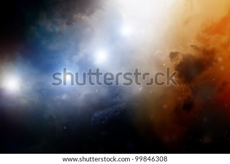 Abstract fantastic background - dark sky looks like nebula in galaxy