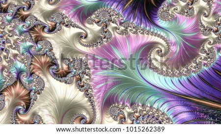 Abstract fantasy colorful swirly ornament on  background. Creative fractal design for greeting cards or t-shirts. cellphone wallpaper