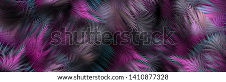 Abstract feather rainbow isolated on a black background. The Amazing fabric Abstract Background, colorful cute composition of feathers for greeting card, digital and textile print - Illustration