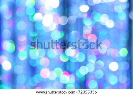 Abstract festive background of blurred lights