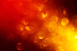 Abstract Festive Background with Red Yellow Blurred Circles.