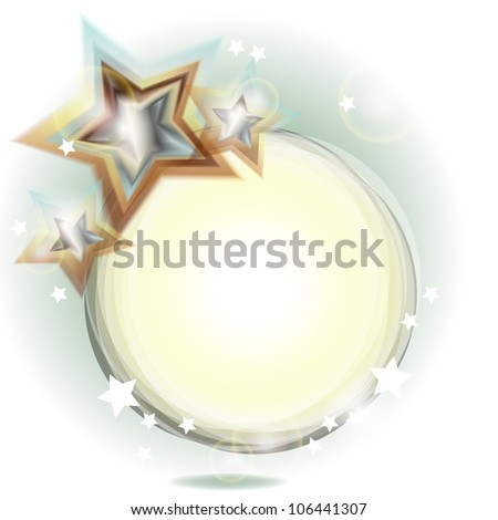 Abstract festive background with stars in cold colors