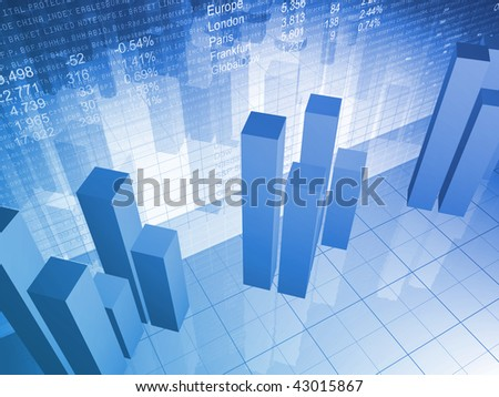 Abstract Financial Chart