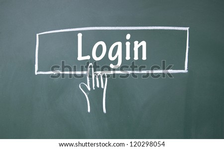 abstract finger click login sign