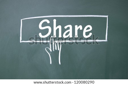 abstract finger click share sign
