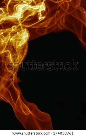 abstract fire and smoke rising