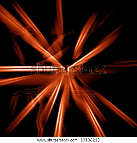 Abstract fire background, spark