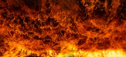 Abstract Fire flames, Blaze fire flame texture for banner background, Conceptual image of burning fire, Perfect fire particles on black background-Image