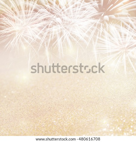 Abstract Fireworks New Year and copy space. Background holiday. #480616708