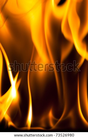 Abstract flame background against a black back drop