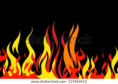 Abstract flame pattern on a black background