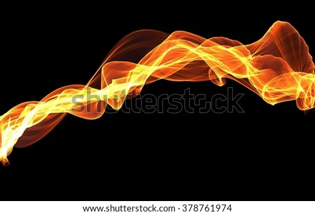 Abstract flame waves background
