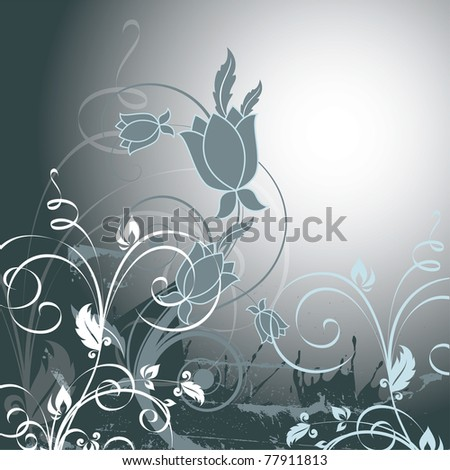 Abstract Floral Background. - stock photo