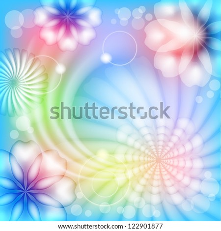 Abstract floral background. Raster copy of vector image