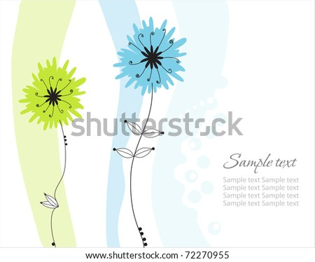 Abstract flowers background with place for your text. This JPEG-file has a EPS-copy in my portfolio