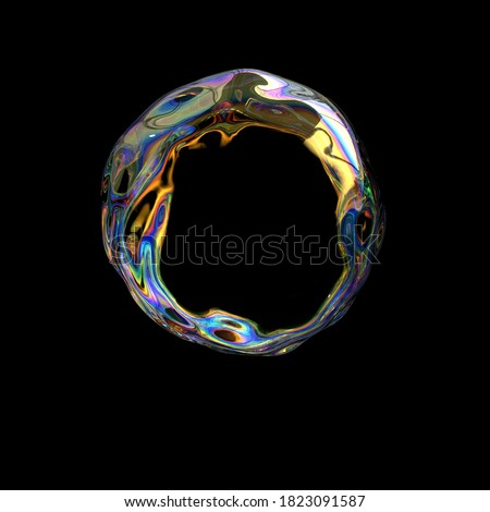 Abstract fluid design element, art holographic transparent gradient, modern futuristic poster, dispersion and iridescent effect 3d rendering