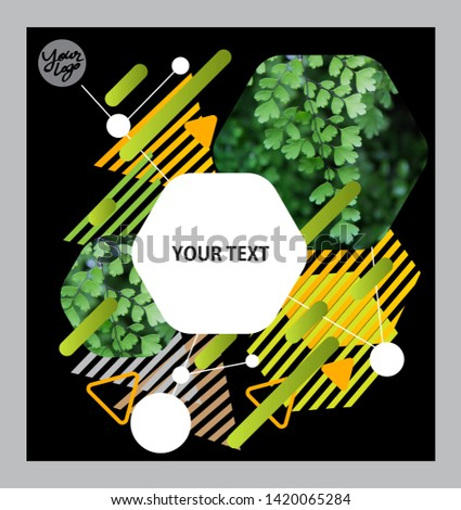 Abstract flyer business brochure template flower #1420065284