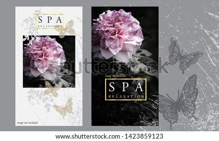 Abstract flyer business brochure template flower #1423859123