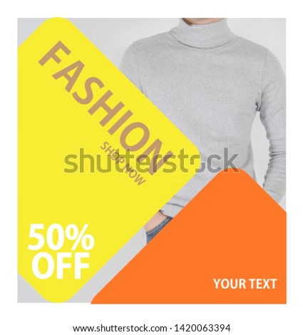 Abstract flyer business brochure template for fashion3 #1420063394
