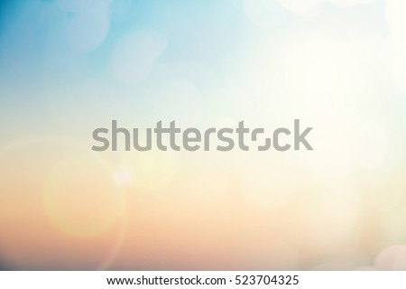 Abstract focus blur morning nature sky scenery fill bokeh texture background concept for hope faith in ramadan, horizon landscape peace calendar wallpaper, people business event book, sunshine on sand