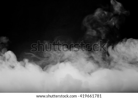 Abstract fog and smoke on dark color background