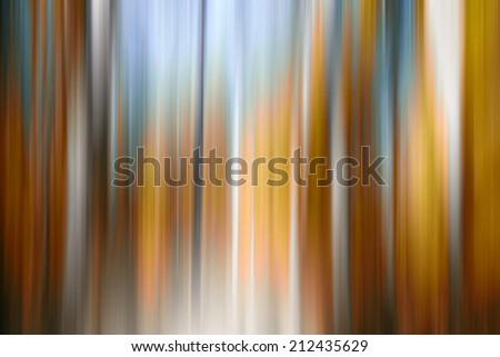abstract forest in autumn time in motion blur ,abstract colorful background