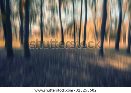 abstract forest in motion blur ,abstract colorful nature background