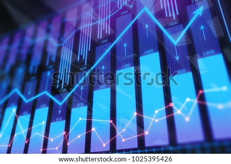 Abstract forex background. Investment and finance concept. 3D Rendering