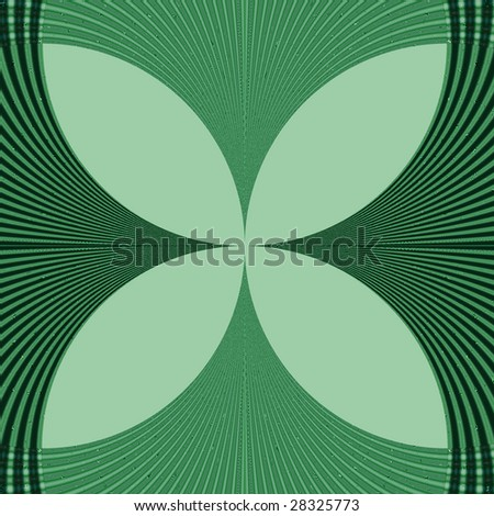 four leaf clover wallpaper. Abstract Four Leaf Clover Fractal