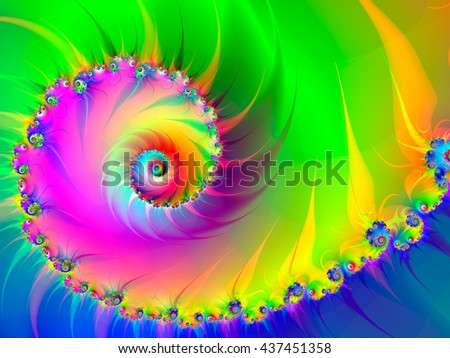 Abstract fractal background computer-generated image #437451358