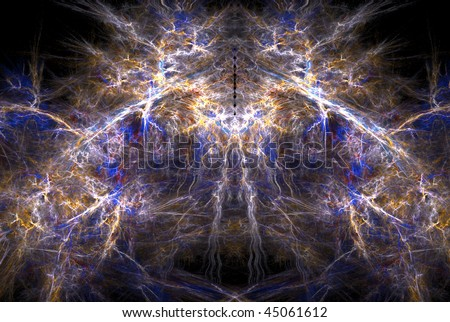 Abstract fractal background design, horizontal