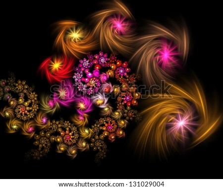 Abstract fractal background for art projects stock photo