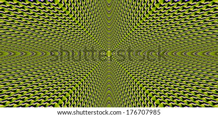Abstract fractal background in high resolution with a simple detailed geometric pattern with perspective design and heading towards the infinity in bright yellow color #176707985