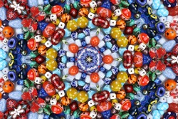 Abstract fractal background (made from colorful beads)