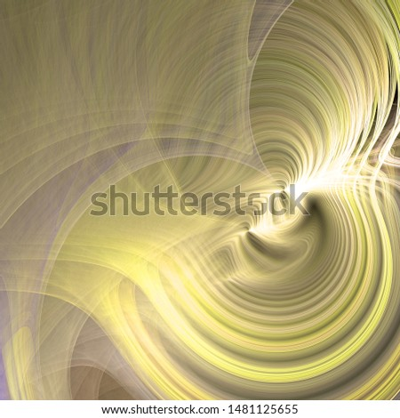 Abstract fractal background made out of waves with a shining center in shining colors.