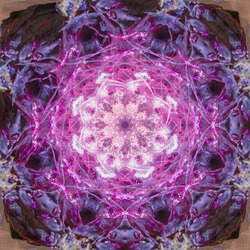 Abstract fractal circle mandala purple organic background texture